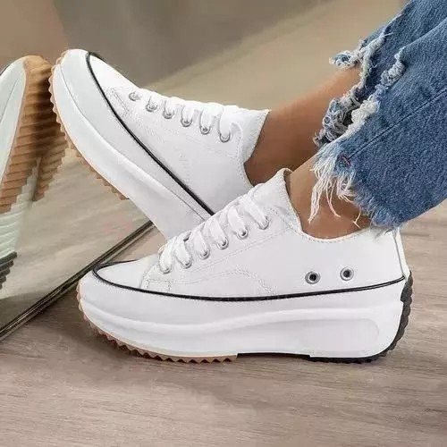 Women's Lace-up Flats Flat Heel Sneakers