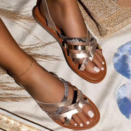 Women's Ladies Glitter Flat Sandals