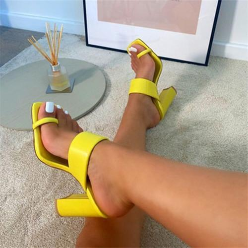 Women Thick Heel Ring Toe Sandals