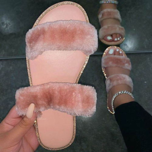 Leisure Plush Warm Slippers