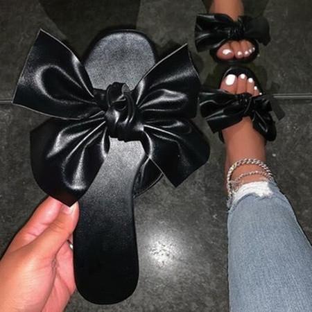 Women's Bowknot Flats Flat Heel Slippers