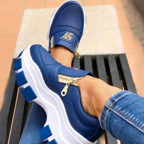 Women All Season Zipper Design Sneakers
