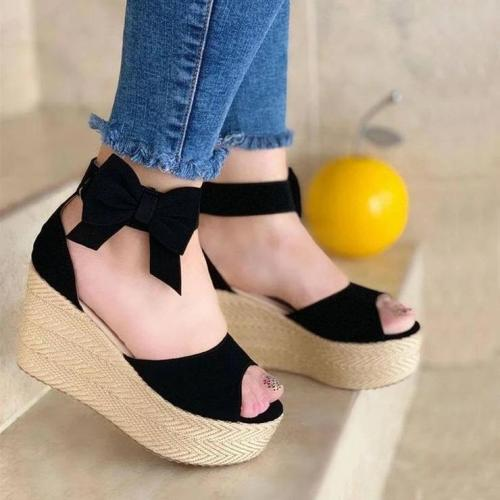 Women's Fashion Buckle Wedge Sandals