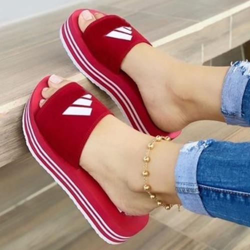 Slip On Open Toe Sandals