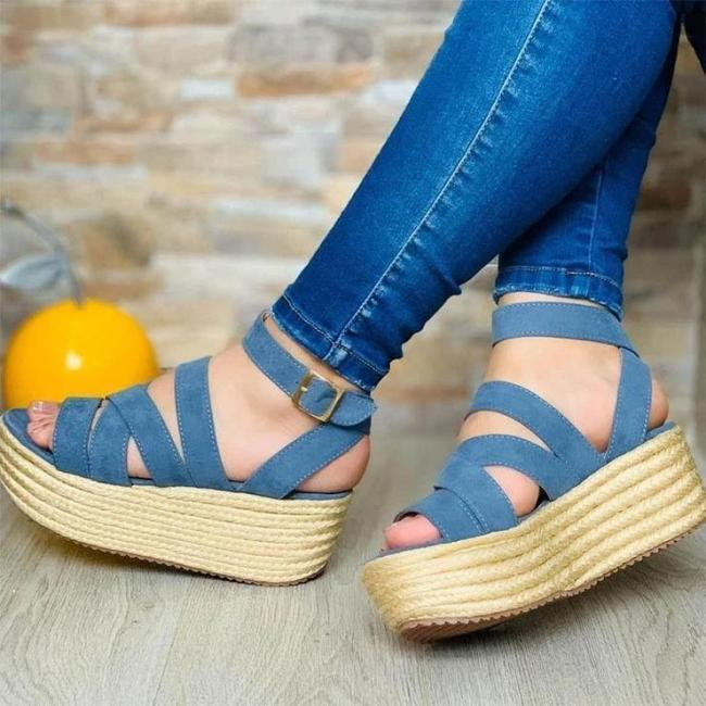 Ladies Fashion Webbing Sole Comfortable Sandals