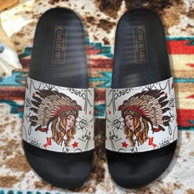 Indians Beauty Pu Casual All Season Slippers