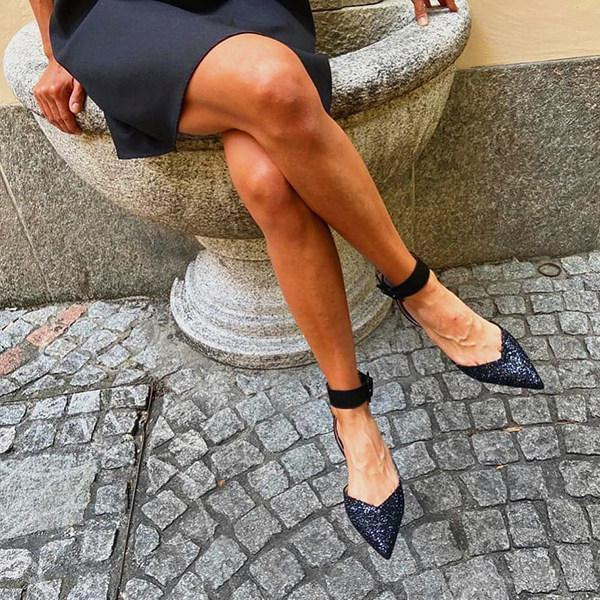 Women's Fashion Pointed Square Heel Sandals