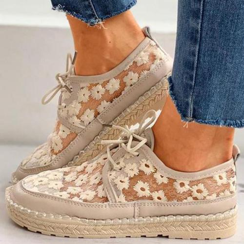 Women's Retro Mesh Flat Casual Shoes