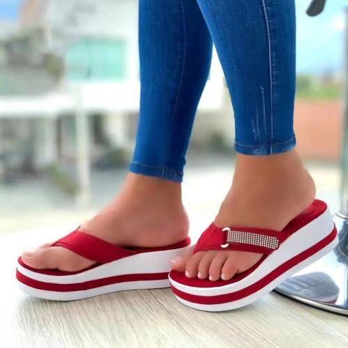 Women's Comfy Color Block  Flip Flops