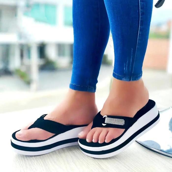 Women's Comfy Color Block  Flip Flops