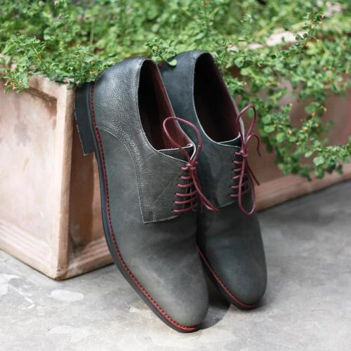 Formal Ostrich Derby Shoes for Men
