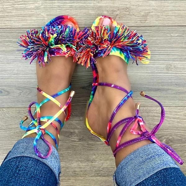 Summer Flat Heel Lacing Sandals