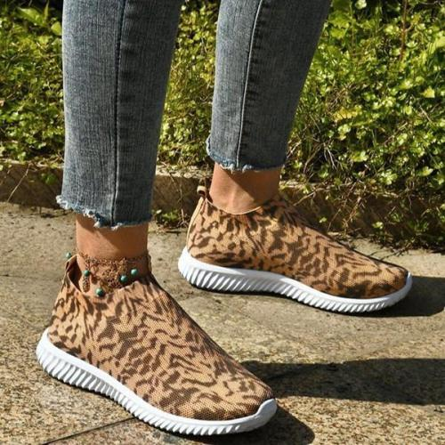 Women's Fashionable Leopard Print Sneakers