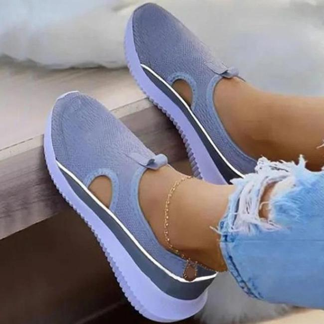 Women Casual Comfy Knit Flat Slip On Sports Sandals Sneakers