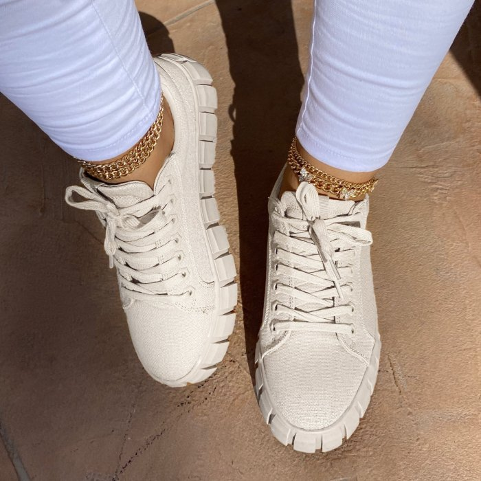 Cute Thickened Biscuit Base Sneakers
