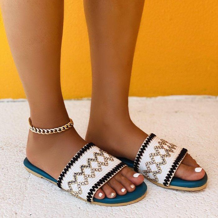 Women's Fashion Canvas Woven Sole Casual Sandals