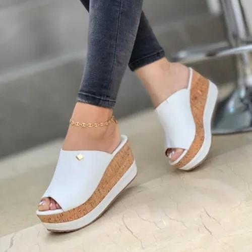 Peop Toe Wedge Sandals