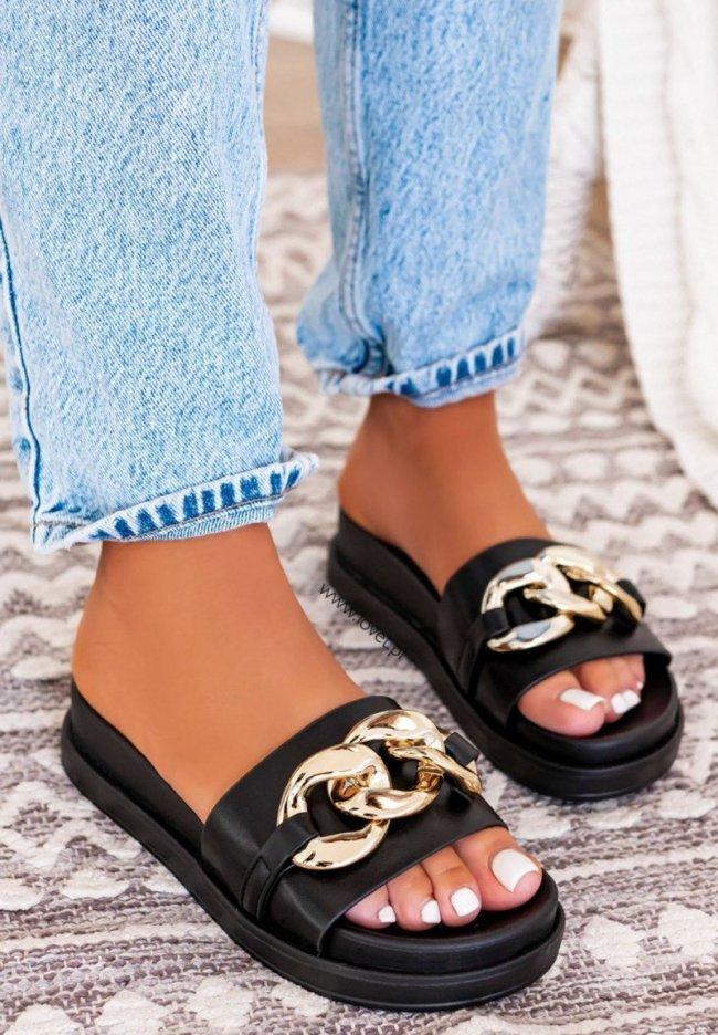Women's Fashion Rivet Chain Flat Slippers