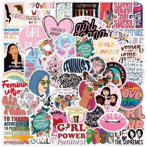 Girl Power Sticker Packs, Feminist Stickers, Woman Rule Stickers