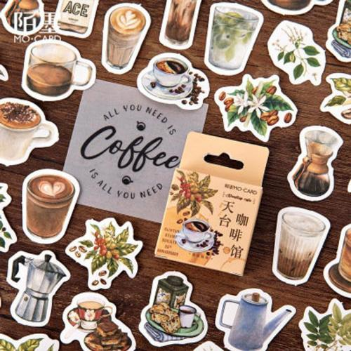 46pcs Coffee stickers pack, Journaling,Planner,bullet journal,Diary Stickers, Coffee stickers