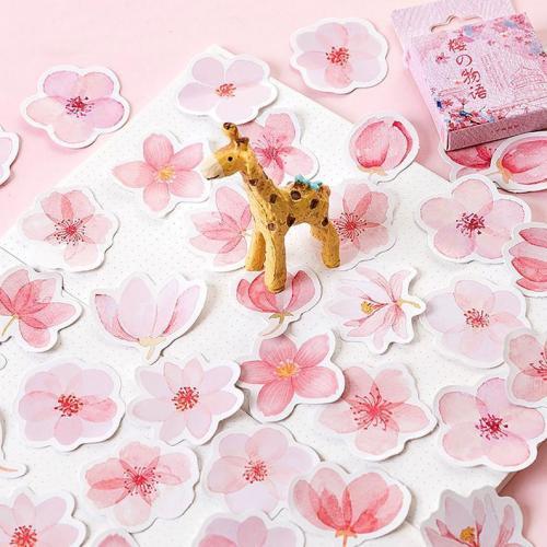 45pcs Janpanese Sakura stickers, Journaling,Planner,bullet journal,Diary Stickers, Flower stickers