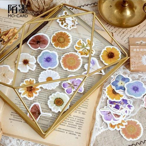 46pcs flower stickers pack, Journaling,Planner,bullet journal,Diary Stickers ,Flower stickers