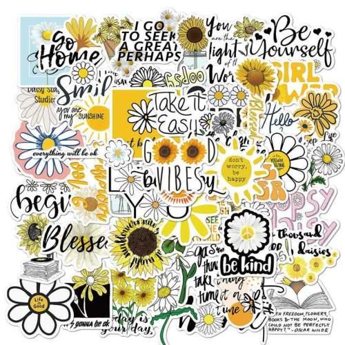 Daisy& sunflower sticker pack 50pcs