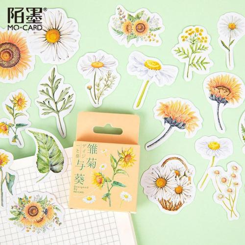 46pcs Daisy sticker pack, Journaling,Planner,bullet journal,Diary Stickers ,Flower stickers