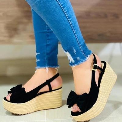 Ladies Summer Bow Pumps Sandals