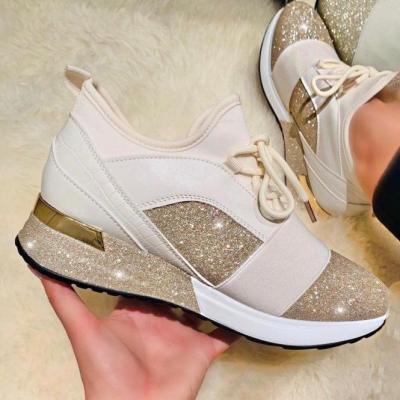 Women Comfotable Fashion Glitter Sleek Sneakers