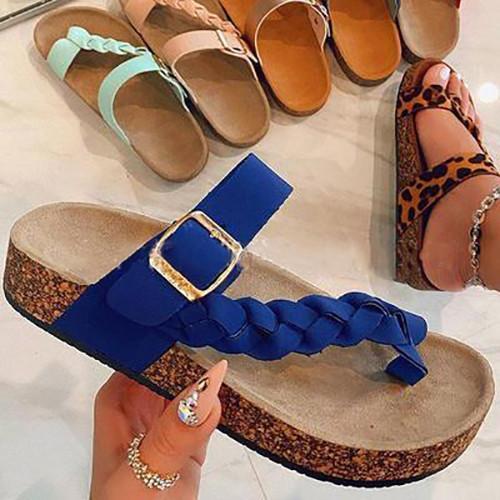 Women Plus Size Adjustable Buckle Sandals