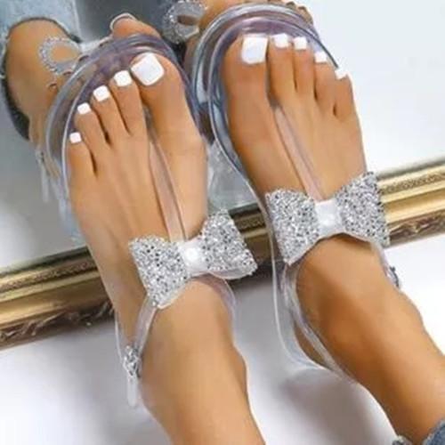 Women's Bowknot Buckle Flats Flat Heel Sandals