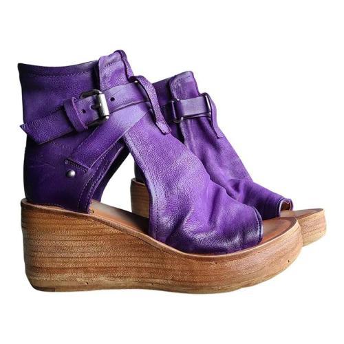 Women's Comfy Wedge Buckle Sandals