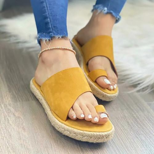 Women Suede Ring Toe Sandals