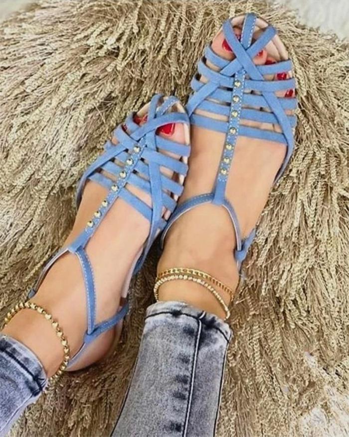 Summer Disc Cloth Surface Flat Sandal
