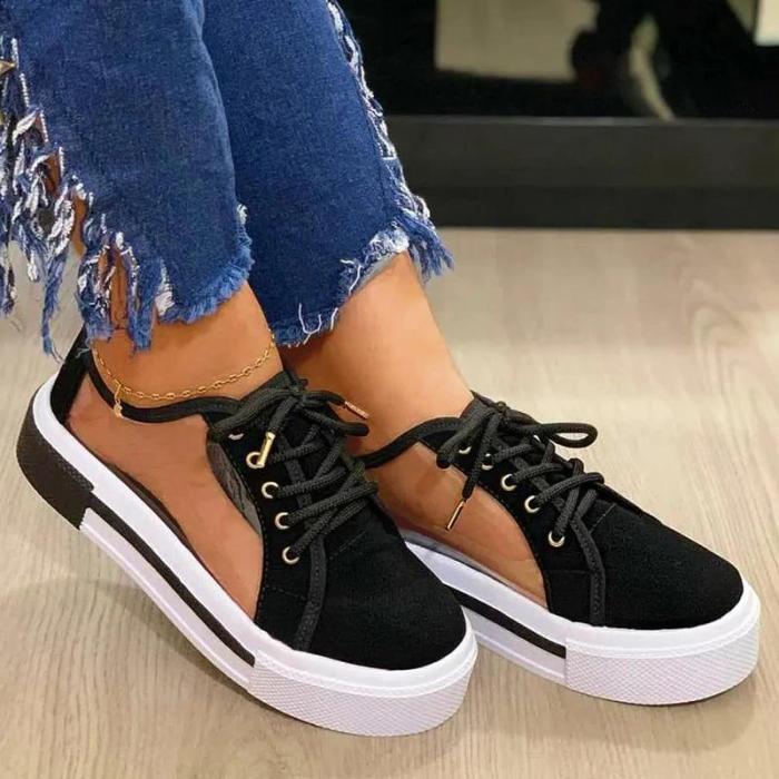 Women's Comfortable Fabric Canvas Sheer Sandals