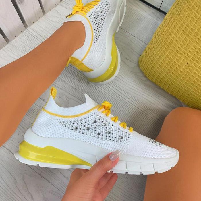 Women's Bling Slip on Comfortable Sneaker With Rhinestone
