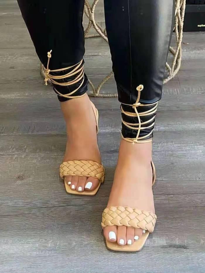 Women's Lace Up Jamie Sandals