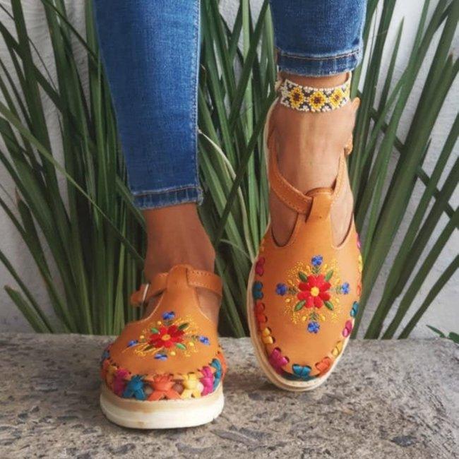 Women's Floral Handmade Sandals