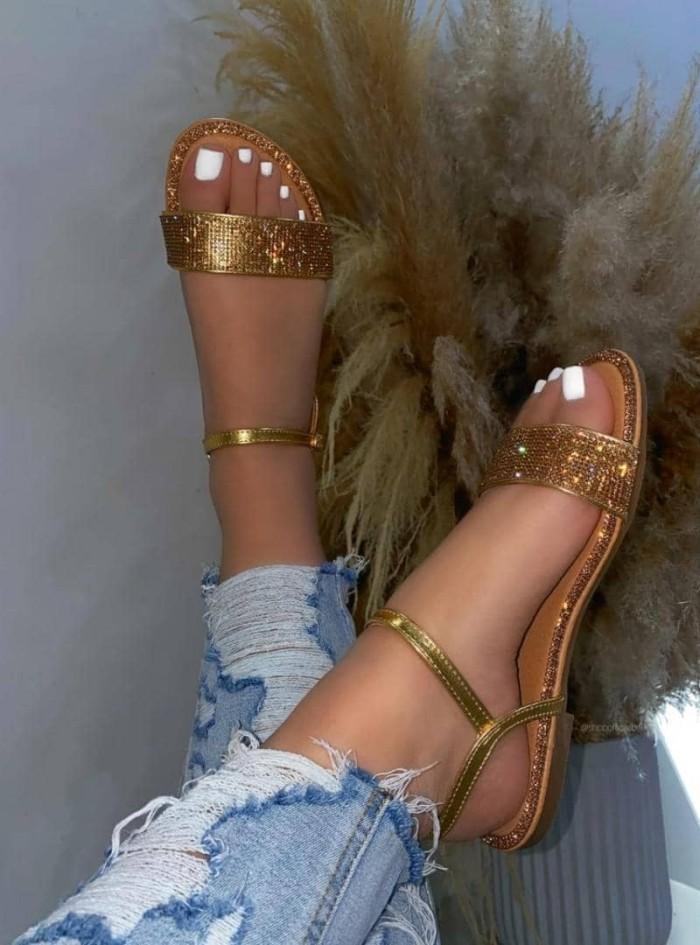 Women's Roman Casual Rhinestone Sandals