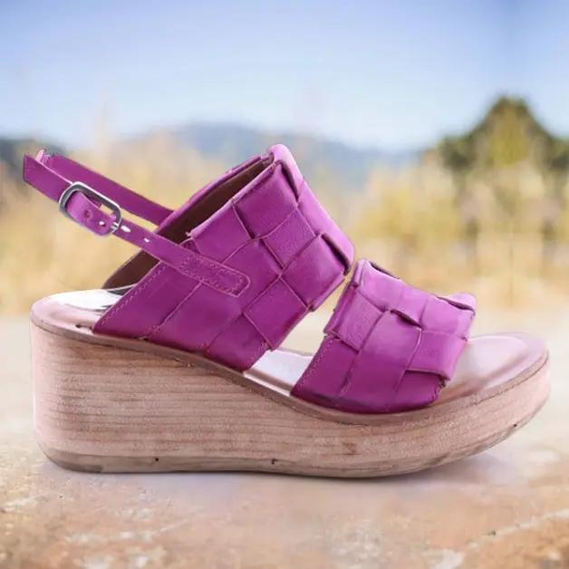 Women's Fashionable Retro Woven Comfortable Wedge Sandals