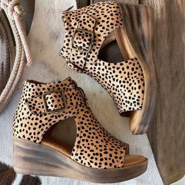 Women's Fashion Western Style Retro Comfortable Wedge Sandals
