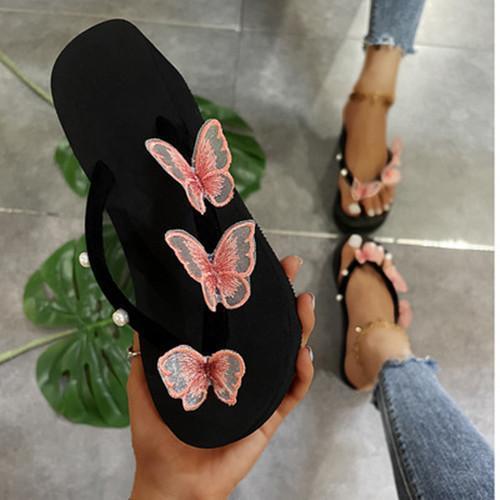 Women's Animal Print Round Toe Flat Heel Sandals