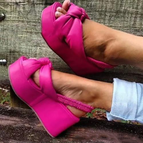 Pu Platform Sandals