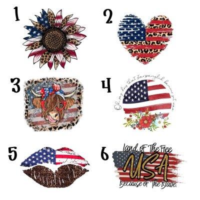 American Flag Distressed Tees