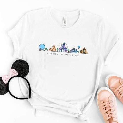 Happy Place Disney Shirt, Disney Epcot Shirt, World Showcase Shirt, Disneyland Shirts