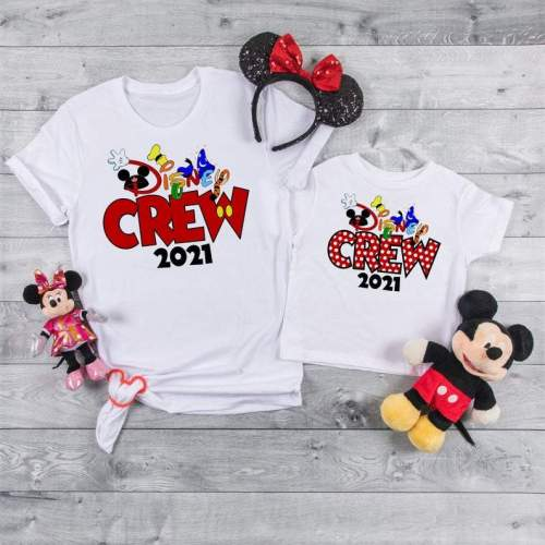 Disney Crew matching shirts, Disney trip 2021, Disney Vacay, Disney family shirts