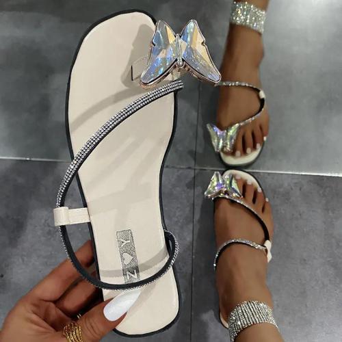 Women's Fashion Butterfly Decoration Flat Slippers