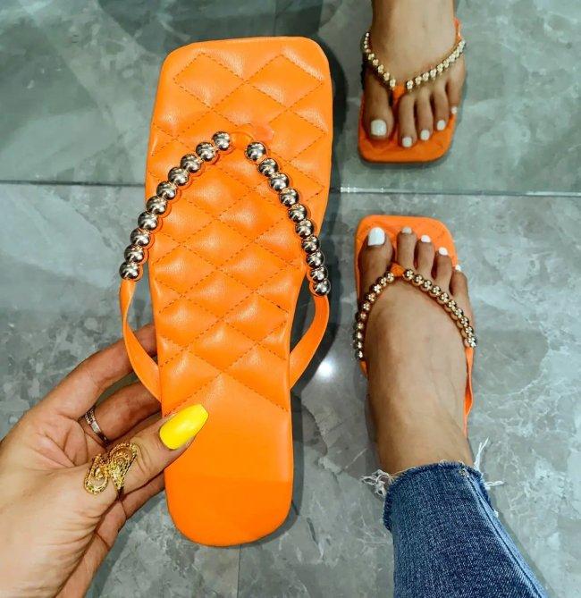 Women's Vintage Square Toe Slipper Sandals