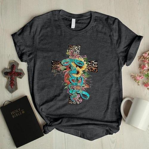 Ladies Western Faith Print T-shirt
